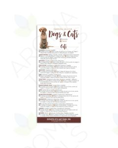 """Essential Oils for Dogs and Cats"" Reference Cards (Pack of 25)"