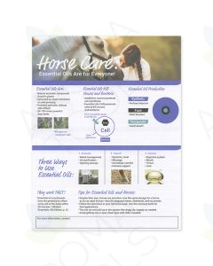 """Horse Care: Essential Oils Are for Everyone"" Tear Pad (50 Sheets)"