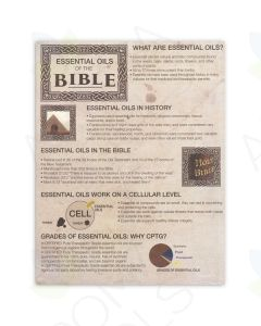"""""""Essential Oils of the Bible"""" Tear Pad (50 Sheets)"""