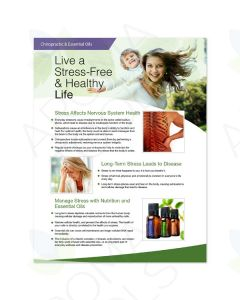 """Chiropractic & Essential Oils: Live a Stress-Free & Healthy Life"" 2-Page Foldout (Pack of 25)"