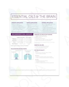 """Essential Oils and the Brain"" 2-Page Foldout Guide (Pack of 25)"