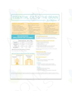 """Essential Oils and the Brain for Children"" 2-Page Foldout Guide (Pack of 25)"