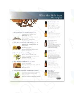 """""""What the Bible Says: Oils and Spices"""" Tear Pad (50 Sheets)"""