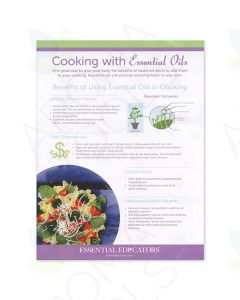 """Cooking with Essential Oils"" Handout (Pack of 25)"