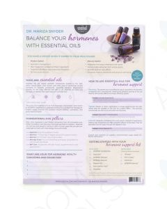 "Dr. Mariza Snyder's ""Balance Your Hormones with Essential Oils"" Tear Pad (25 Sheets)"