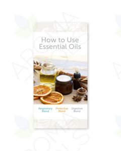 """How to Use Essential Oils: Respiratory, Protective, and Digestive Blends"" Brochure (Pack of 25)"