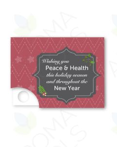 Red Holiday Premium Essential Oil Sample Cards (Pack of 12)