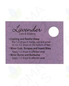 Lavender Oil Tips Cards (Sheet of 15)