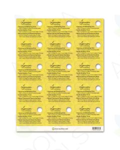 Lemon Oil Tips Cards (Sheet of 15)