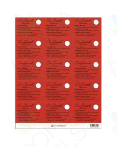 On Guard Oil Tips Cards (Sheet of 15)