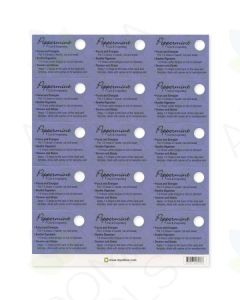 Peppermint Oil Tips Cards (Sheet of 15)