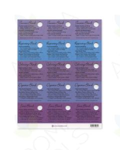 Oil Tips Card Set of Blends (Sheet of 15)