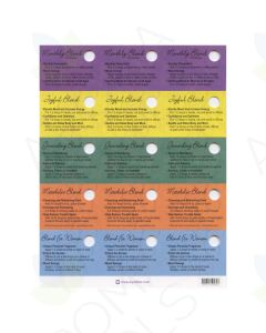 Oil Tips Card Set of Blends for Women (Sheet of 15)