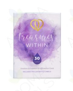 """Treasures Within"" Emotions and Essential Oil Affirmation Cards and Bottle Labels"