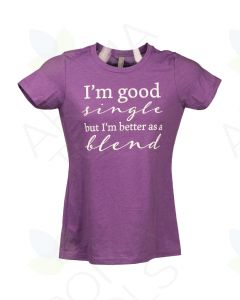 "Women's Purple Berry ""Better as a Blend"" Short-Sleeve Shirt"