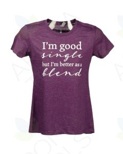 "Women's Plum ""Better as a Blend"" Short-Sleeve Shirt"