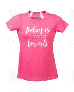"Women's Raspberry ""A Good Day for Oils"" Short-Sleeve Shirt"