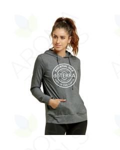 Women's Charcoal Gray doTERRA Seal Thin Pullover Hoodie
