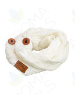 Women's doTERRA Branded Off-white Knit Scarf with Diffuser Buttons