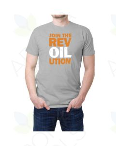 "Men's Gray ""Rev-Oil-ution"" Short-Sleeve T-Shirt"