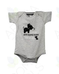 "Athletic Heathered Gray ""Anti-Aging"" Baby Short-Sleeve Onesie"