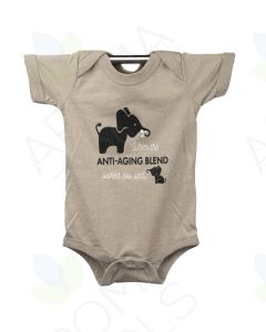 "Heathered Stone ""Anti-Aging"" Baby Short-Sleeve Onesie"