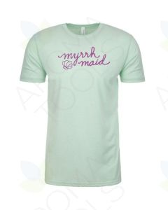 "Mint Green ""Myrrh Maid"" Short-Sleeve Shirt"