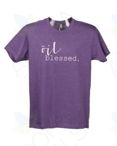 "Unisex Purple Rush ""Oil Blessed"" Short-Sleeve Shirt"