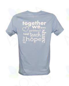"Unisex Heathered Blue doTERRA ""Together"" Short-Sleeve Shirt"