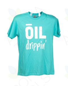 Tahiti Blue Oil Drippin' Short-Sleeve Shirt