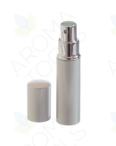 10 ml Deluxe Silver-tone Misting Spray Bottle