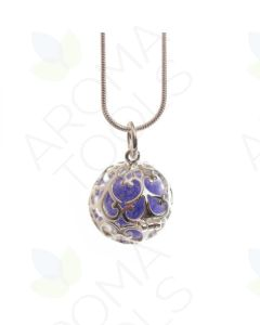 Small, Round Aroma-Ball Necklace and Colored Aroma-Balls
