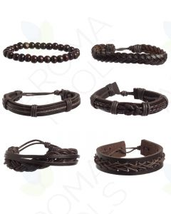 Leather Bracelet Set 1 (Pack of 6)
