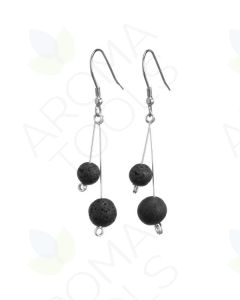 2-Stone, Lava Rock Earrings