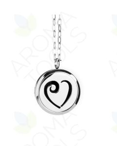 Stainless Steel, Heart Locket Diffusing Necklace