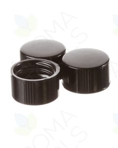 Black Caps for 1/4, 5/8, and 1 dram Vials (Pack of 144)