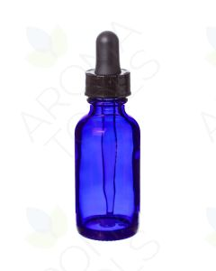 1 oz. Blue Glass Bottles with Dropper Caps (Pack of 6)