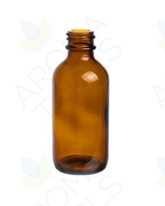 2 oz. Amber Glass Boston Round Bottle (20-400 Neck Size)