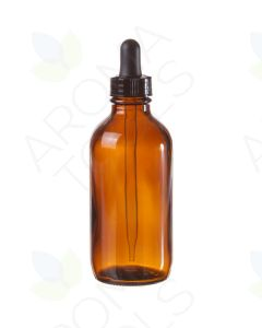 4 oz. Amber Glass Bottle with Dropper Cap