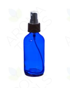 4 oz. Blue Glass Bottle with Black Misting Sprayer