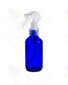 4 oz. Blue Glass Bottle with Natural Trigger Sprayer