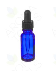 15 ml Blue Glass Vials with Dropper Caps (Pack of 6)