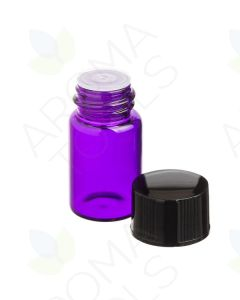 2 ml Purple Glass Vials, Orifice Reducers and Black Caps (Pack of 12)