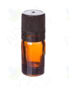 5 ml Amber Glass Vials and Black Euro-style Caps with Orifice Reducers (Pack of 6)