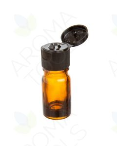5 ml Amber Glass Vials with Black Snap-Top Caps (Pack of 6)