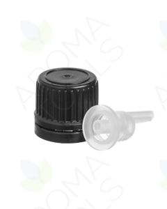 Black Euro-Style Caps for Vials with Neck Size 18-415 (Pack of 6)