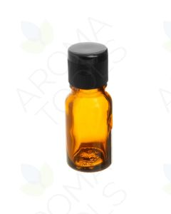10 ml Amber Glass Vials with Black Snap-Top Caps (Pack of 6)