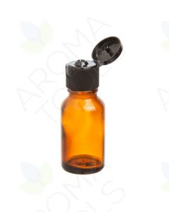 15 ml Amber Glass Vials with Black Snap-Top Caps (Pack of 6)