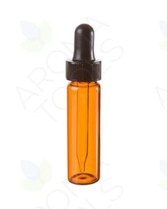 4 dram Amber Glass Vials with Dropper Caps (Pack of 6)