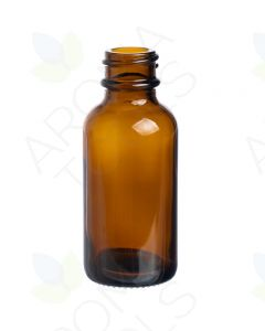 1 oz. Amber Glass Boston Round Bottle (20-400 Neck Size)